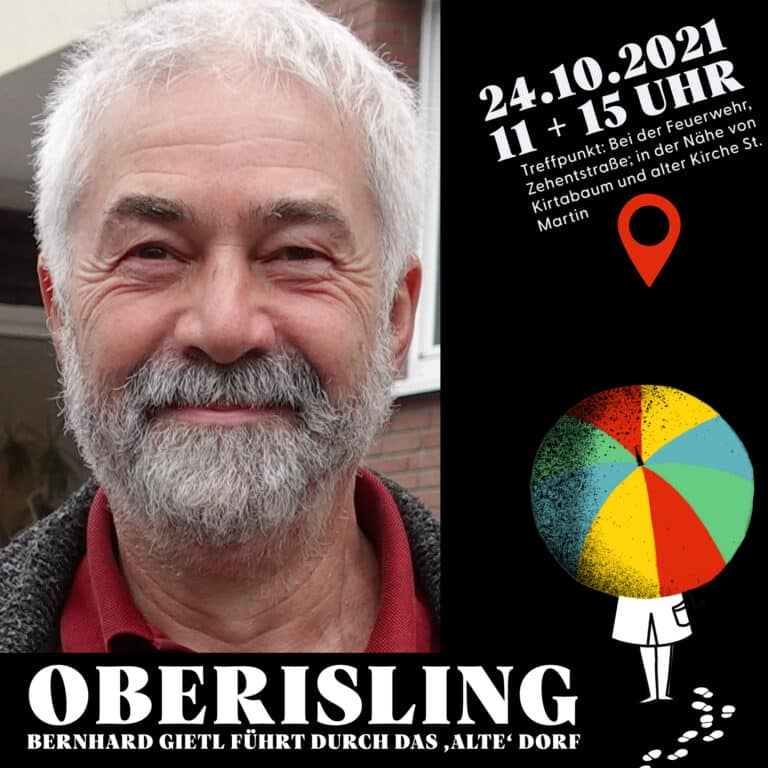 Kultursommer Regensburg Stadtteilführung Oberisling – Bernhard Gietl führt durch das 'alte' Dorf